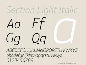 Section Light Italic 2.000图片样张