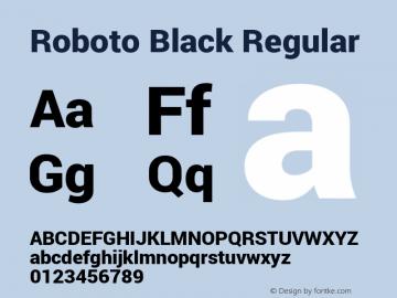 Roboto Black Regular Version 1.100141; 2013图片样张
