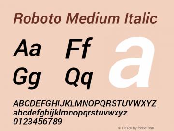 Roboto Medium Italic Version 1.100141; 2013图片样张