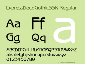 ExpressDecoGothicSSK Regular Macromedia Fontographer 4.1 8/2/95 Font Sample