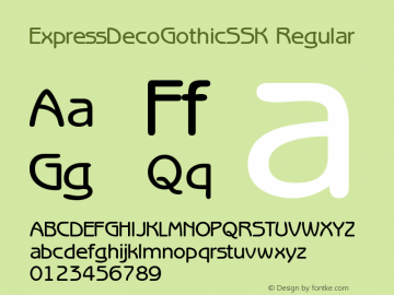 ExpressDecoGothicSSK Regular Macromedia Fontographer 4.1 8/2/95图片样张