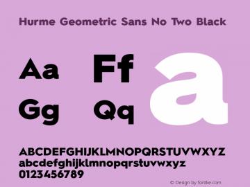 Hurme Geometric Sans No Two Black 1.001 Font Sample