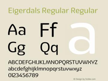 Eigerdals Regular Regular Version 3.000 Font Sample