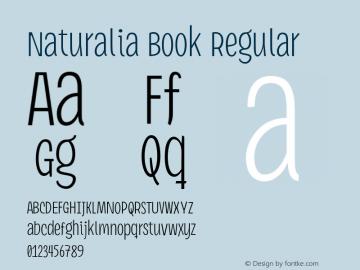 Naturalia Book Regular Version 1.001 Font Sample