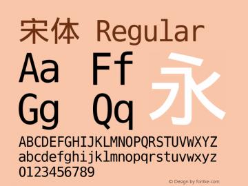 宋体 Regular Version 5.01 Font Sample