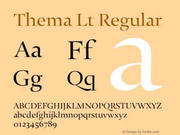 Thema Lt Regular Version 4.000 Font Sample