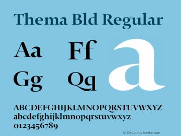 Thema Bld Regular Version 4.000 Font Sample