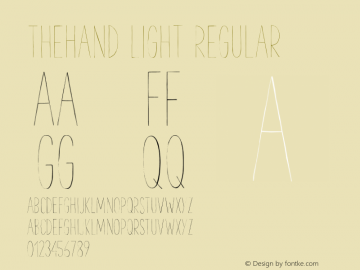 TheHand Light Regular Version 1.001;PS 001.001;hotconv 1.0.56 Font Sample