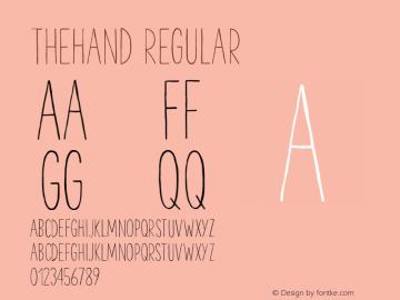 TheHand Regular Version 1.000;PS 001.001;hotconv 1.0.56 Font Sample