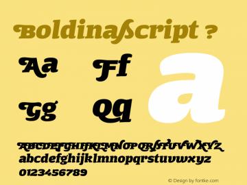 boldina font