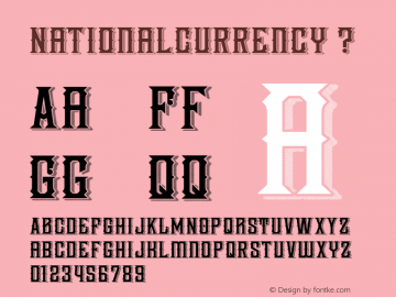 NationalCurrency ? Version 1.000;com.myfonts.decade-typefoundry.national-currency.regular.wfkit2.3W1k图片样张