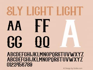 Sly Light Light Unknown Font Sample