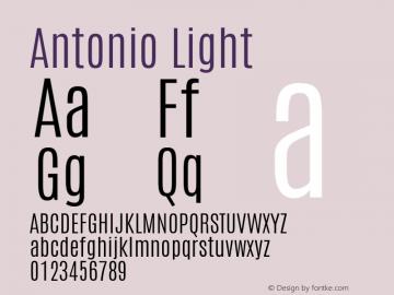 Antonio Light Version 1 Font Sample
