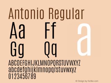 Antonio Regular Version 1 Font Sample