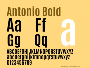 Antonio Bold Version 1 Font Sample