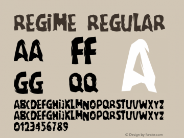 regime Regular Macromedia Fontographer 4.1 5-11-97 Font Sample