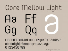 Core Mellow Light Version 1.000;wf Font Sample