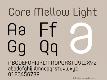 Core Mellow Light Version 1.000;wf图片样张