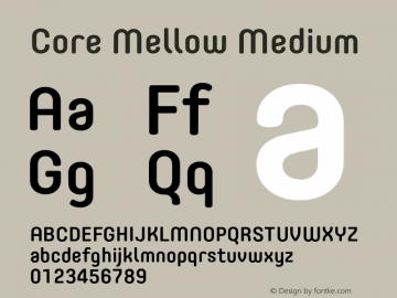 Core Mellow Medium Version 1.000;wf Font Sample