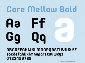 Core Mellow Bold Version 1.000;wf Font Sample