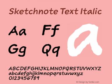 Sketchnote Text Italic Version 1.000图片样张