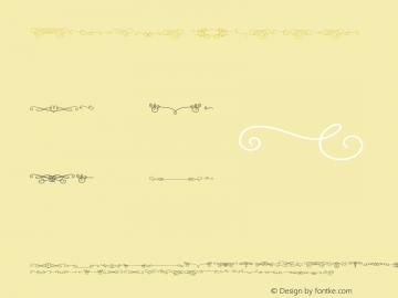 Katelyn Ornament 1.000 Font Sample