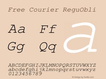 Free Courier ReguObli Version 1.06 Font Sample