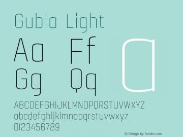 Gubia Light 001.000;com.myfonts.graviton.gubia.light.wfkit2.46ea Font Sample