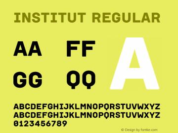 Institut Regular Version 1.001图片样张