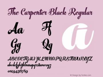The Carpenter Black Regular Version 1.000 Font Sample
