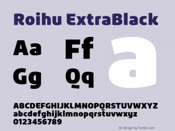 Roihu ExtraBlack 1.000;com.myfonts.mika-melvas.roihu.extra-black.wfkit2.46j8图片样张