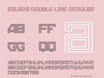 Eslava Double Line Regular 001.000;com.myfonts.graviton.eslava.double-line.wfkit2.44NZ Font Sample