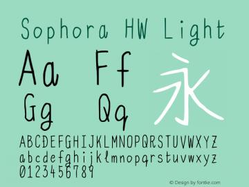 Sophora HW Light Version 4.2.8 Font Sample