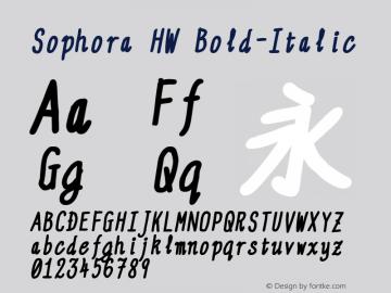 Sophora HW Bold-Italic Version 4.2.8 Font Sample