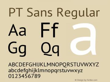 PT Sans Regular Version 1.001 Font Sample