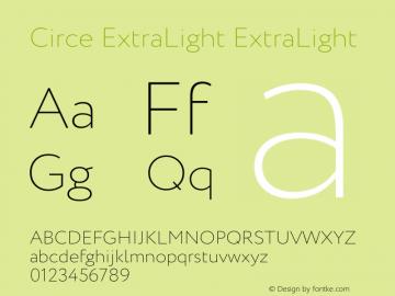 Circe ExtraLight Font Family|Circe ExtraLight-Uncategorized Typeface
