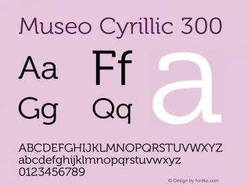Museo Cyrillic Font,Museo Cyrillic 300 Font,MuseoCyrillic