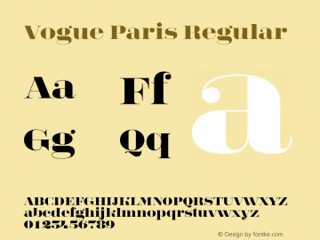 Vogue Paris Font,Vogue Paris Regular Font,VogueParis Font