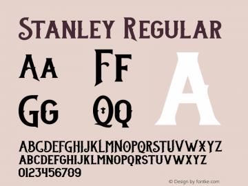 Stanley Regular Version 001.000 Font Sample