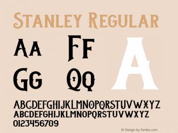 Stanley Regular 001.000 Font Sample