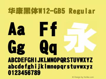 華康黑體W12-GB5 Regular Version 1.00图片样张