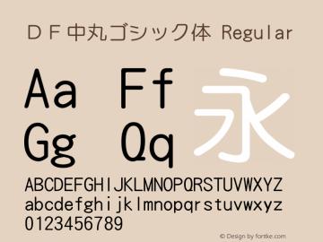 DF中丸ゴシック体 Regular Version 2.500 Font Sample
