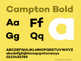 Campton Bold Version 1.000;PS 001.001;hotconv 1.0.56 Font Sample