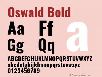 Oswald Bold 3.0 Font Sample