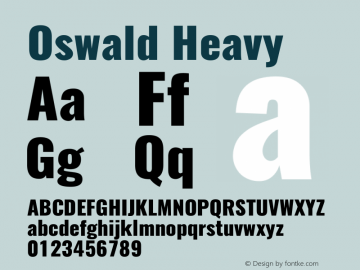 Oswald Heavy 3.0 Font Sample