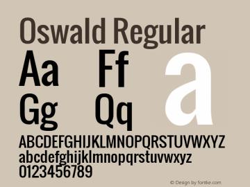 Oswald Regular Version 2.000; ttfautohint (v0.8.59-3fb0) Font Sample