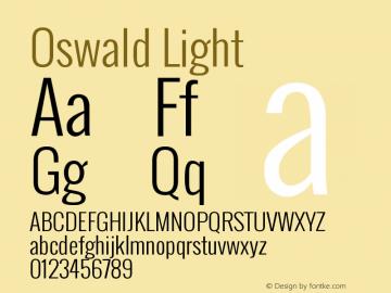 Oswald Light Version 2.3 Font Sample