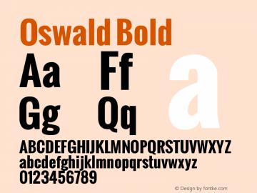 Oswald Bold Version 1.000 Font Sample