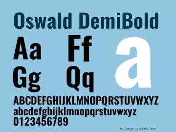 Oswald DemiBold 3.0 Font Sample