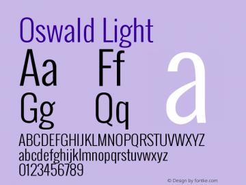 Oswald Light Version 2.002 Font Sample